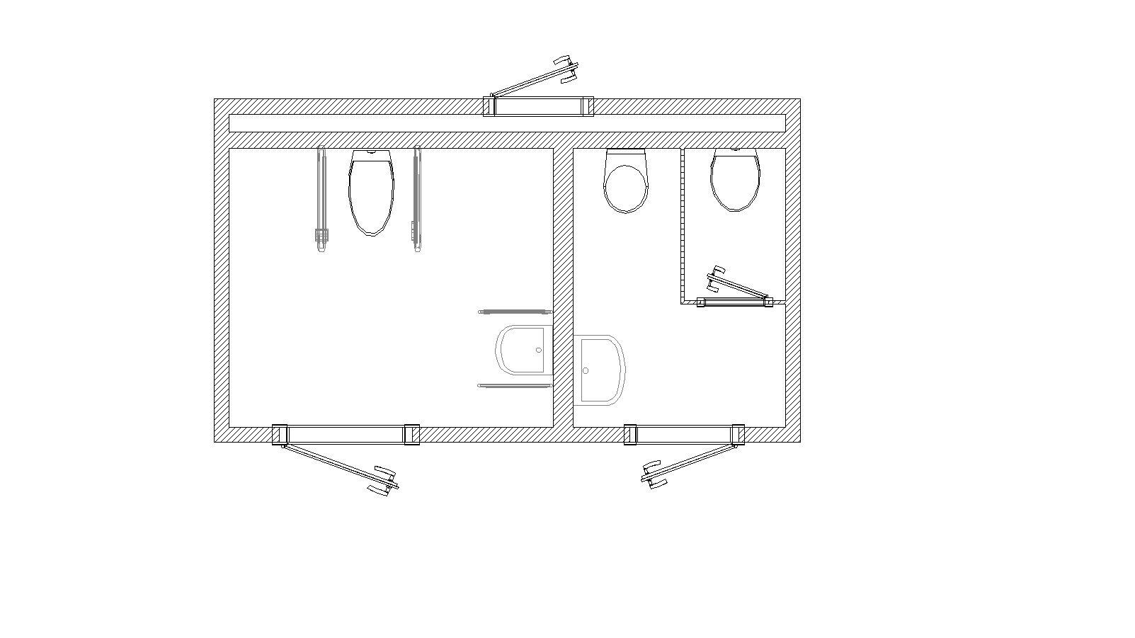 Produktkatalog - Mobil-WC L 470 SB behindertengerecht | Berger ... | {Toilette maße 69}