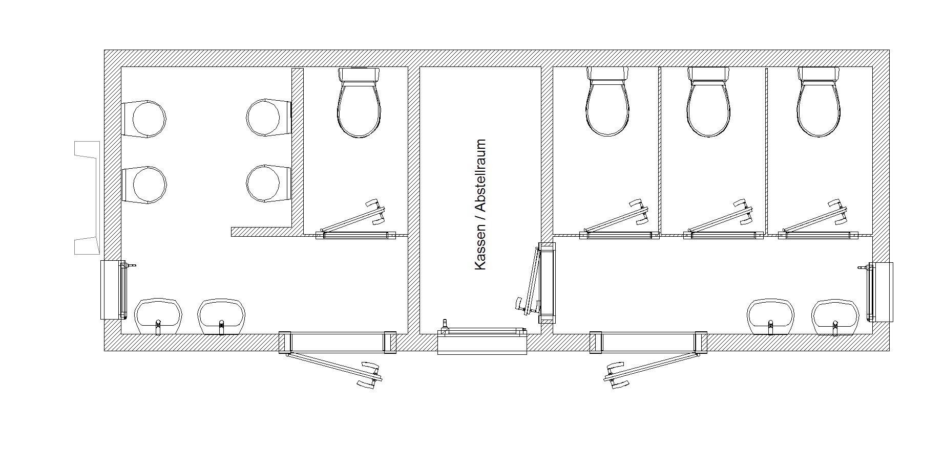 Toilette maße  Produktkatalog - Mobil-WC L 650 SW auf Abrollbasis | Berger ...