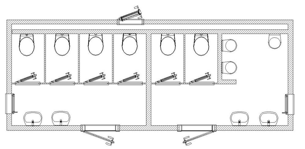 Beliebt Produktkatalog - Mobil WC L 700 T - Toilettencontainer ohne Tank QV14
